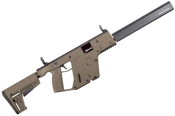 "Picture of KRISS Vector Gen II CRB Enhanced Semi-Auto Carbine - 9mm, 18.6"", w/Square Enhanced Black Shroud, Flat Dark Earth, M4 Stock Adaptor w/Defiance M4 Stock, 10rds, Flip Up Front & Rear Sights"