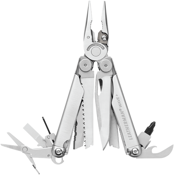 """Picture of Leatherman MultiTool, Wave Plus - 17 Tools, Weight 8.5 oz 