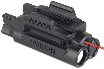 Picture of LaserMax Spartan Adjustable Light & Laser - Red laser/Mint Light, AAA battery, 120 lum, Fits Picatinny & Weaver Rails