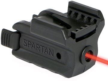 Picture of LaserMax Spartan Adjustable Fit Laser - Red laser, 1/3N battery, Fits Picatinny & Weaver Rails