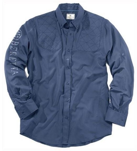 Picture of Beretta Men's Clothing, Shirts - Beretta V-TECH Long Sleeved Shirt, Blue, L