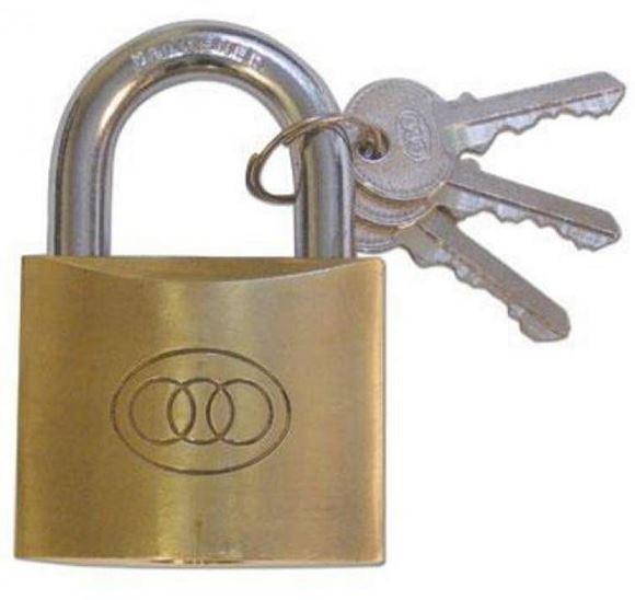 "Picture of Micota Padlocks - Brass Single Locking, 3/4"", KA1, Boxed"