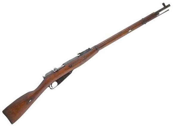"""Picture of Mosin Nagant Surplus Model 1891/30 Bolt Action Rifle - 7.62x54R, 28.7"""", Blued, Wood Stock, 5rds, Post Front & Adjustable Rear Sights"""