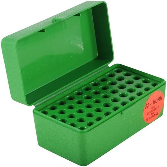 Picture of MTM Case-Gard R-50 Series Rifle Ammo Box - R 22 Hornet-50, Green