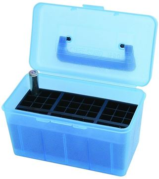 Picture of MTM Case-Gard Deluxe H-50 Series Rifle Ammo Case - H50-R-MAG, 50rds, Clear Blue