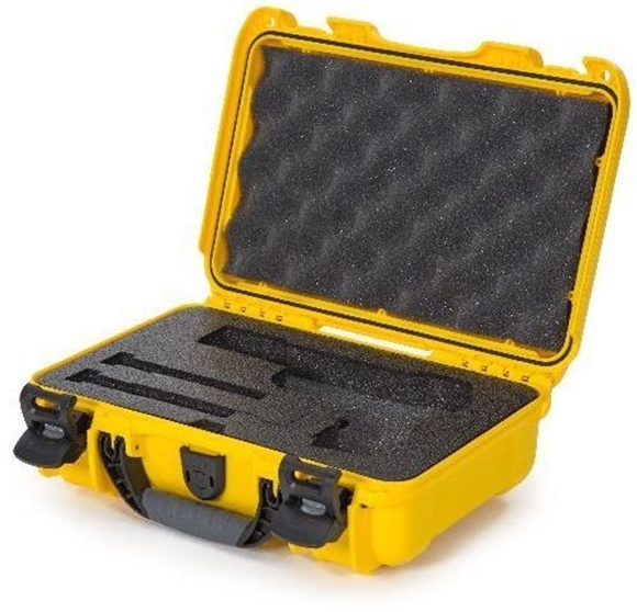 "Picture of Nanuk Professional Protective Cases - Classic Single Pistol Case, Pre-cut Foam, Waterproof & Impact Resistant, 12.64"" x 9"" x 4.38"", Yellow"