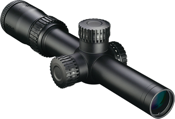 Picture of Nikon Optics, Black Force X1000 - 1-4x24, 30mm, Speed Force Reticle, Side-Mounted Illumination Control, Capped Windage & Elevation Turrets