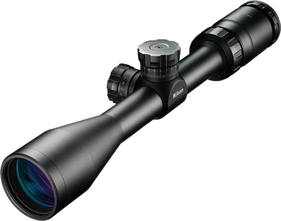 """Picture of Nikon Sport Optics Riflescopes, Tactical Riflescopes - P-Tactical 223, 3-9x40mm, 1"""", Matte, BDC 600, 1/4 MOA Click Adjustment, Waterproof/Fogproof"""