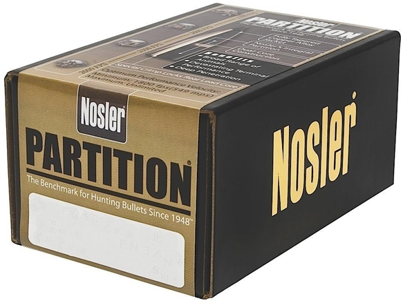 "Picture of Nosler Bullets, Partition - 375 Caliber (.375""), 260Gr, Spitzer, 50ct Box"