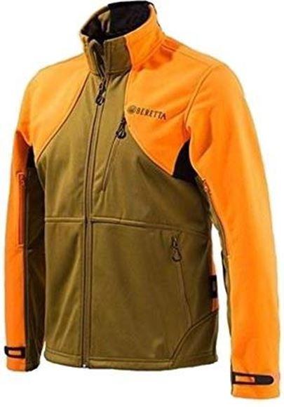 Picture of Beretta Men's Clothing, Jackets - Beretta Soft Shell Fleece Jacket, Adult, Light Brown/Orange, XXL