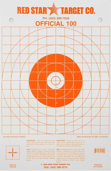 Picture of Red Star Target - Official 100, Orange, 10-Pack