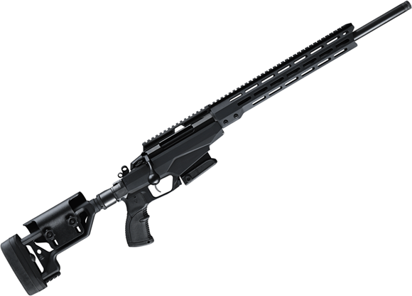 """Picture of Tikka T3X Tactical A1, Bolt Action Rifle - 308 Win, 24"""", Matte Black, Semi-Heavy Contour, Threaded, Modular Chassis W/ 13.5"""" M-LOK Fore-End & Folding Stock w/Adjustable Cheek Piece, Full Aluminum Bedding,10rds, Full length Optic Rail"""