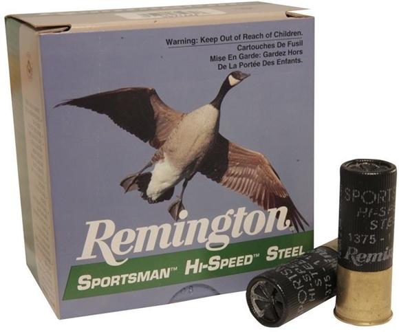 "Picture of Remington Waterfowl Loads, Sportsman Hi-Speed Steel Shotgun Ammo - 12Ga, 2-3/4"", MAG DE, 1-1/8oz, #4, 25rds Box, 1375fps"