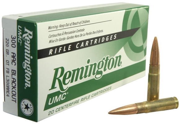 Picture of Remington Premier Centerfire Rifle Ammo - 300 AAC Blackout (7.62x35mm), 220Gr, Sub-Sonic, Open-Tip Flat Base, 20rds Box, 1050FPS