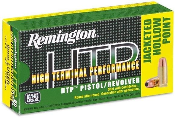 Picture of Remington HTP, High Terminal Performance Pistol/Revolver Handgun Ammo - 38 Special +P, 125Gr, Semi-Jacketed Hollow Point, 50rds Box, 945fps