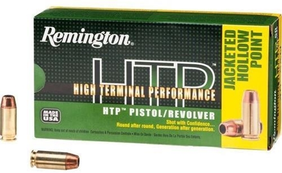 Picture of Remington HTP High Terminal Performance Pistol & Revolver Handgun Ammo - 40 S&W, 180Gr, JHP, 500rds Case