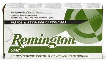 Picture of Remington UMC Pistol & Revolver Handgun Ammo - 9mm Luger, 115Gr, MC, 500rds Case