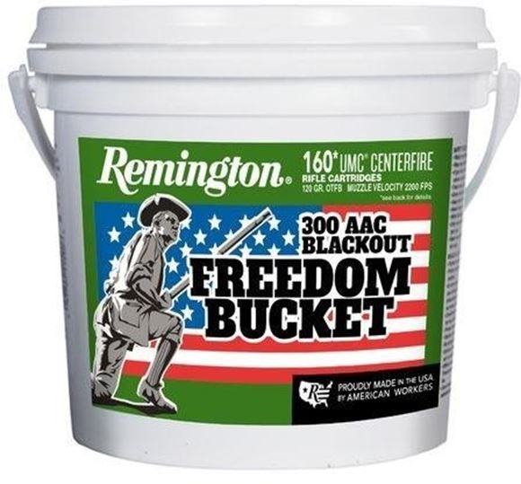 Picture of Remington UMC Rifle Ammo - 300 AAC Blackout, 120Gr, OTFB, 160rds Freedom Bucket