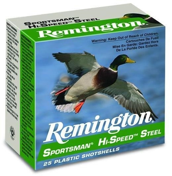 "Picture of Remington Sportsman Hi-Speed Steel Load Shotgun Ammo - 10Ga, 3-1/2"", MAG DE, 1-3/8oz, BB, 25rds Box, 1500fps"