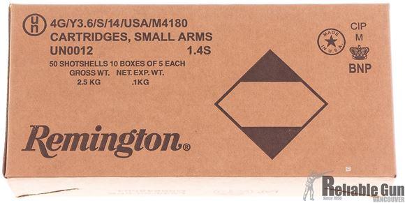 Picture of Remington Buckshot, Express Buckshot Shotgun Ammo - 12Ga, 2 3/4'', 3-3/4 DE, #00 Buck, 9 Pellets, Buffered, 50rds Brick, 1325fps