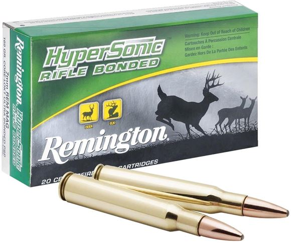 Picture of Remington Hyper Sonic Centerfire Rifle Ammo - 300 Win Mag, 180Gr, HyperSonic Centerfire Core-Lokt Ultra Bonded PSP, 20rds Box, 3122fps