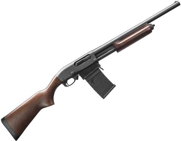 "Picture of Remington Model 870 DM Pump Action Shotgun - 12Ga, 3"", 18-1/2"", Matte Black, Dark Satin Hardwood Stock, 6rd Detachable Magazine, Single Bead Sight, Fixed Cylinder"