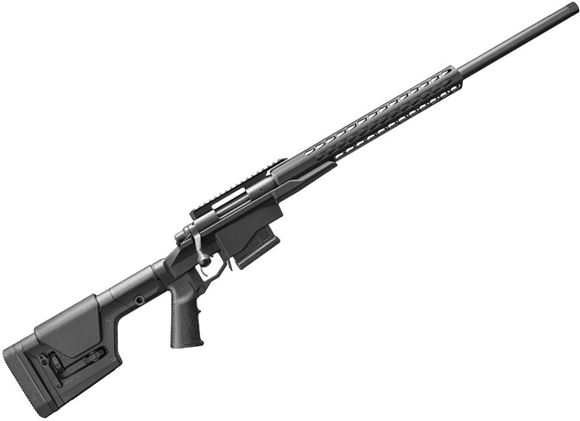 "Picture of Remington 700 PCR Bolt Action Rifle - 260 Rem, 24"" Heavy BBL, 5R Rifling, Threaded, Matte Black, Aluminum Chassis With Square Drop Handguard & Magpul PRS Stock, X-Mark Pro Adjustable Trigger, 5rds"