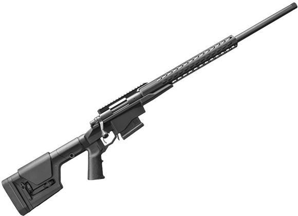 "Picture of Remington 700 PCR Bolt Action Rifle - 308 Win, 24"" Heavy BBL, 5R Rifling, 1:10 Rifling, Threaded, Matte Black, Aluminum Chassis With Square Drop Handguard & Magpul PRS Stock, X-Mark Pro Adjustable Trigger, 5rds"