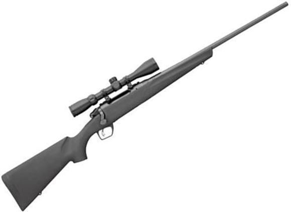 "Picture of Remington Model 783 Synthetic Scoped Bolt Action Rifle - 7mm Rem Mag, 24"", Carbon Steel, Magnum Contour, Button Rifled, Matte Black, Black Synthetic Stock, Pillar-Bedded, 3rds, CrossFire Adjustable Trigger, SuperCell Recoil Pad, w/3-9x40mm Scope"