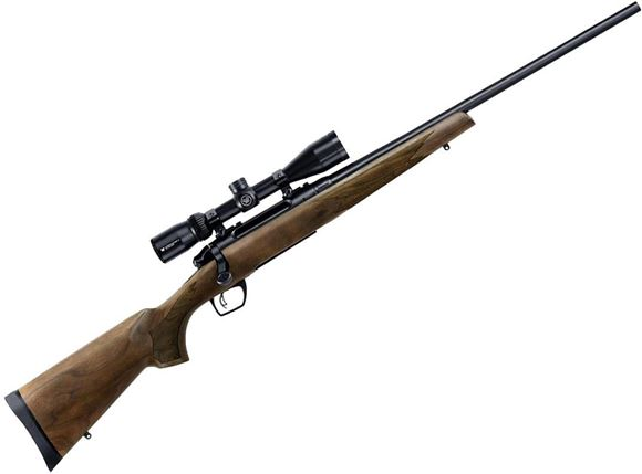 "Picture of Remington Model 783 Walnut Bolt Action Rifle - 7mm Rem Mag, 24"", Carbon Steel, Blued, American Walnut Stock, 3rds, CrossFire Adjustable Trigger, w/3-9x40mm Scope"