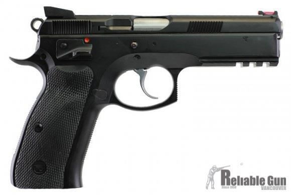 """Picture of Pre-Owned, New In Box, Unfired CZ 75 SP-01 Shadow Pistol - 9mm, 4.61"""", Fiber Optic Front & Fixed Rear Sights, 3x10rds, Ambi Safety"""