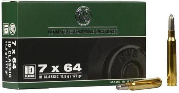 Picture of RWS Rottweil ID Classic Hunting Rifle Ammo - 7x64, 177Gr, Soft Point Double Core, 20rds Box