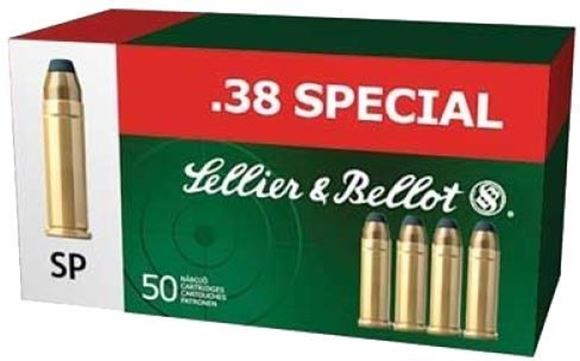 Picture of Sellier & Bellot Handgun Ammo - 38 Special, 158gr, LFN, 50rds box