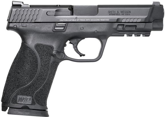 "Picture of Smith & Wesson (S&W) M&P45 M2.0 Striker Fire Action Semi-Auto Pistol - 45 Auto, 4-1/4"", Black Armornite Finish, Four Interchangeable Palmswell Grip Inserts(S,M,ML,L), 2x10rds, Steel Low Profile Carry White Dot Dovetail Sights"