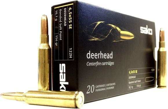 Picture of Sako Rifle Ammo - 6.5 Creedmoor, 156Gr, Deerhead Bonded Soft Point (123H), 20rds Box
