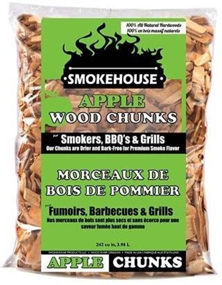 Picture of Smokehouse Products, Alll Natural Wood Chunk - Apple Chunks, 1.75 lb Bag