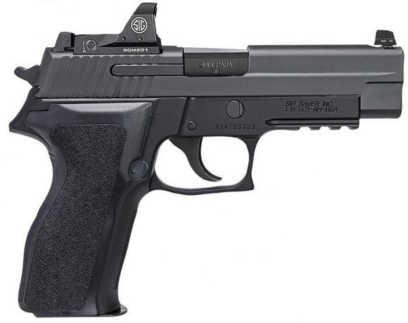 """Picture of Sig Sauer P226 Romeo DA/SA Semi Auto Pistol - 9mm Luger, 4.4"""", Nitron Finish, E2 Grips, 2x10rds, Romeo1 Mini Reflex Sight"""