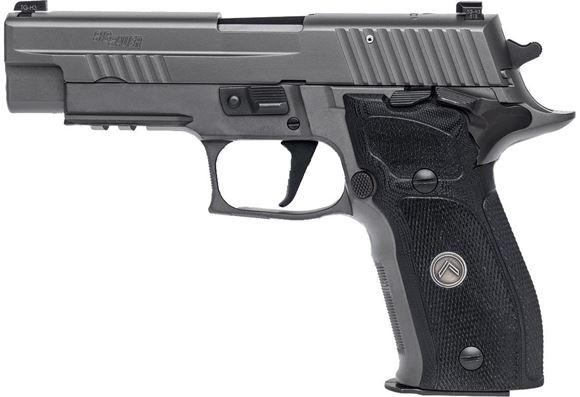 "Picture of SIG SAUER P226 SAO Legion Single Action Semi-Auto Pistol - 9mm, 4.4"", Legion Gray PVD Finish Stainless Steel Slide & Alloy Frame, Custom G-10 Grips, 3x10rds, X-Ray Day/Night Sights, Rail, Master Shop Flat Trigger"
