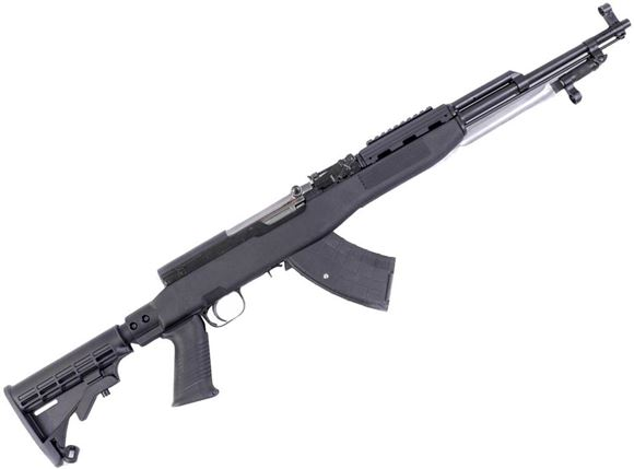 """Picture of Surplus SKS Semi-Auto Rifle - 7.62x39mm, 20"""", Blued, w/Tapco Stock, 5rds, Post Front & Adjustable Rear Sights, Folding Bayonet, Refurbished"""