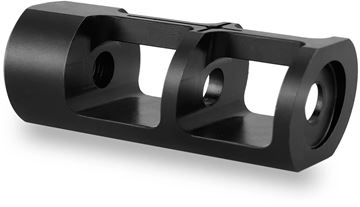 """Picture of Titan Spear Manufacturing - BS10-2 Muzzle Brake, 5/8-24, 308, 1"""" O.D, 2.5"""" OAL"""