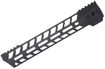 "Picture of Titan Spear Manufacturing - AR15 Handguard, MLOK, 15"", I.D 1.36"", 1.61"" Wide, Top Rail, Steel Barrel Nut, Black"