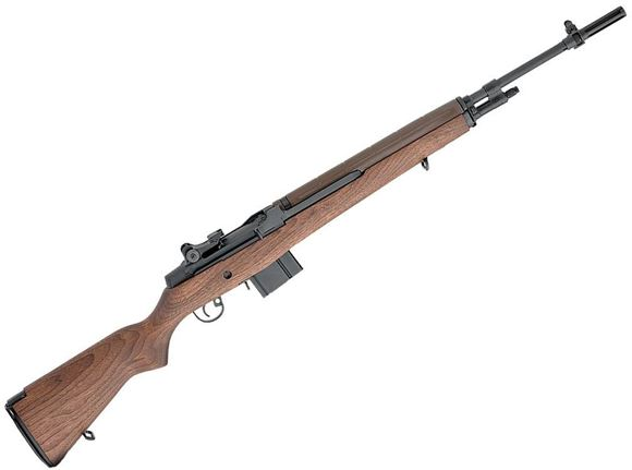 """Picture of Springfield Armory M1A Standard Semi-Auto Rifle - 7.62x51mm NATO/308 Win, 22"""", 1:11"""", Carbon Steel, Parkerized, Walnut Stock, 5rds, Standard Military Post Front & Military Aperture Adjustable Rear Sights, 2-Stage Military Trigger"""