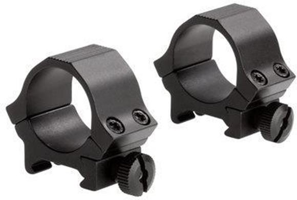 """Picture of Sun Optics USA Mounting Systems, Sport Rings - 1"""", Low, Satin Black, Standard Dovetail (Weaver)"""