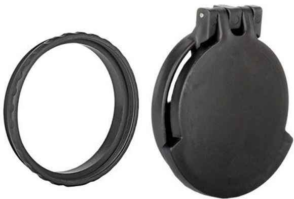 Picture of Tenebraex Tactical Tough Cover - Flip Cover with Adapter Ring, Eye Piece, Black, Fits Schmidt Bender PMII