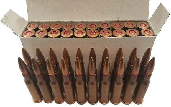 Picture of Sellier & Bellot Surplus Rifle Ammo - 7.62x54R, 148Gr, TFMJ Steel Core CuZn 30 Case, 20rds, Corrosive