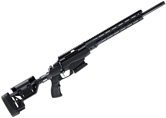 "Picture of Tikka T3X Tactical A1, Bolt Action Rifle - 308 Win, 20"", Matte Black, Semi-Heavy Contour, Threaded, Modular Chassis With Integral BLK LBL Swiveling Bipod Fore-End, Folding Stock w/Adjustable Cheek Piece, Full Aluminum Bedding, 10rds, Full length Optic Ra"