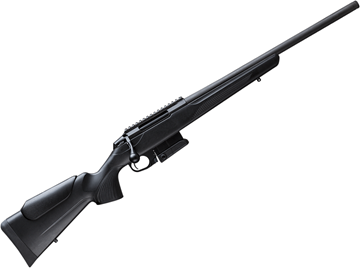 "Picture of Tikka T3X Compact Tactical Rifle (CTR) Bolt Action Rifle - 308 Win, 20"", Matte Black, Semi-Heavy Contour, Threaded, Black Glass-Fiber Reinforced Copolymer Polypropylene Stock w/Varmint Cheek Piece, 10rds, Picatinny-Rail"
