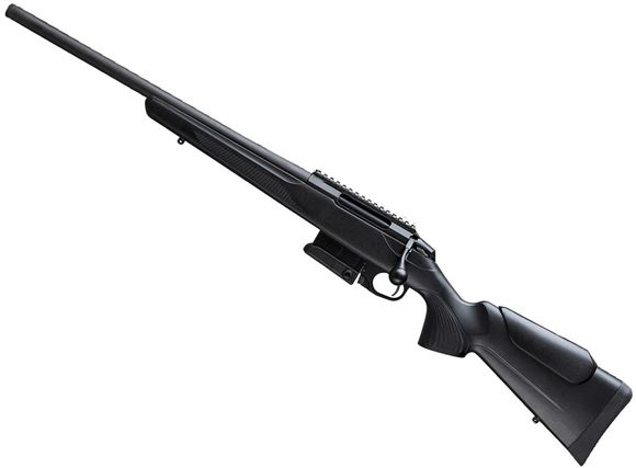 "Picture of Tikka T3X Compact Tactical Rifle (CTR) Bolt Action Rifle Left Hand - 308 Win, 20"", Matte Black, Semi-Heavy Contour, Threaded, Black Glass-Fiber Reinforced Copolymer Polypropylene Stock w/Varmint Cheek Piece, 10rds, Picatinny-Rail, Left Hand"