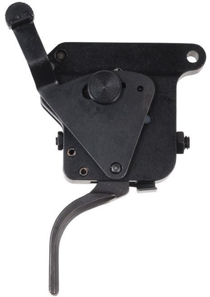 Picture of Timney Triggers, Remington - Remington Model 700 Flat Trigger w/Safety, Right Hand, Black, 3 lb, Adjustable 1.5 lb - 4 lb