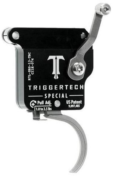 Picture of Trigger Tech, Remington 700 Trigger - Primary Frictionless Trigger, Left Hand, Curved, Single Stage, 1.5-4lbs, Stainless